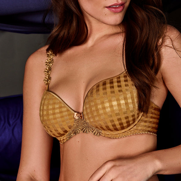AVERO Padded Bra in Gold