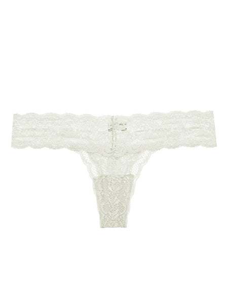CUTIE Low Rise Lace Thong in Moon Ivory