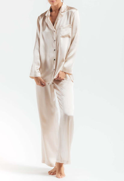 MORGAN Silk PJ Set in Porcelain