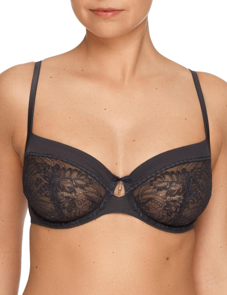 NATALIE Full Cup Bra in Marble Grey