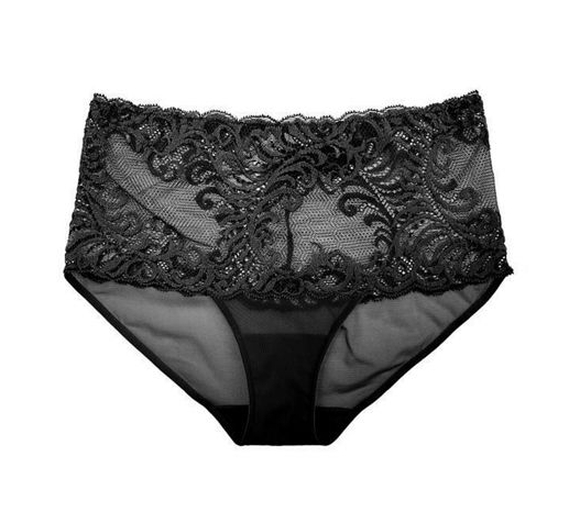 FEATHERS Girl Brief in Black