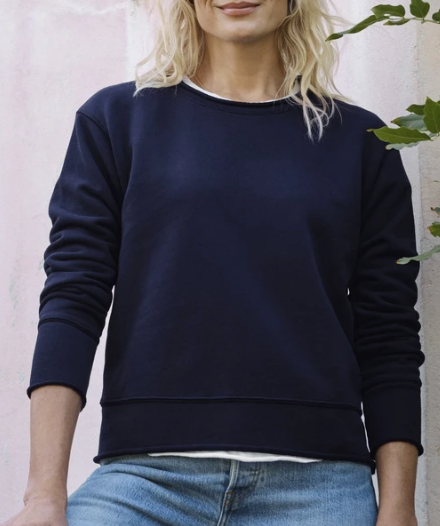 LAB526TF Boyfriend Sweatshirt in British Royal Navy