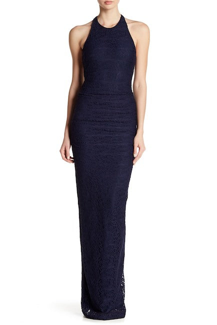 Adel Rose Lace Maxi Dress in Navy