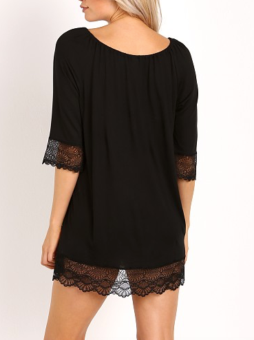 VENICE Night Dress in Black