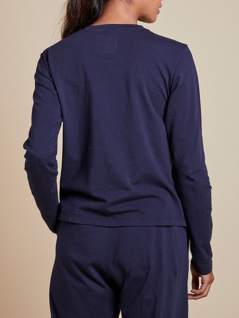 VICENTE Long Sleeve Crew in Navy