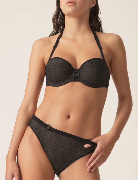 ORNELLA Balconette & Rio Brief 2-Piece Set in Noir Dore