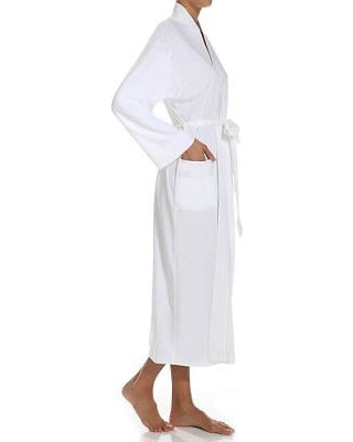 Butterknit Long Robe in White