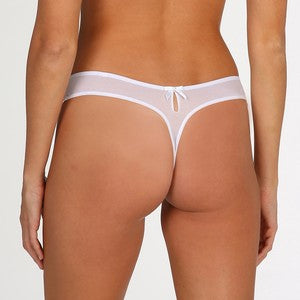 PEARL Thong in White