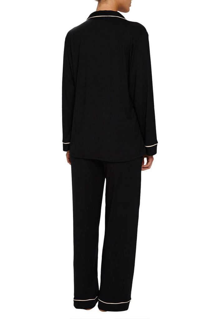 GISELE Shirt & Pant Set in Black/Sorbet Pink