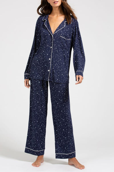 GISELE Long PJ Set in Starlight/Ivory