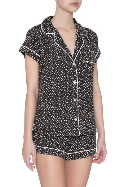 SLEEP CHIC Short PJ Set in Felix Black/Bellini
