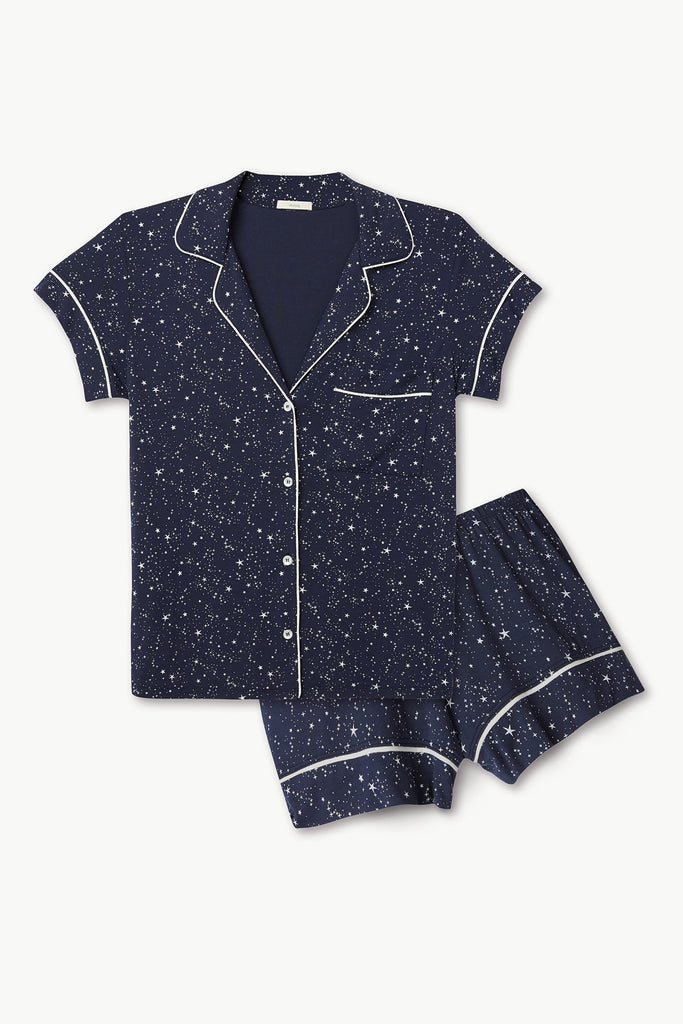 GISELE Printed Short PJ Set in Estrella Navy/Ivory