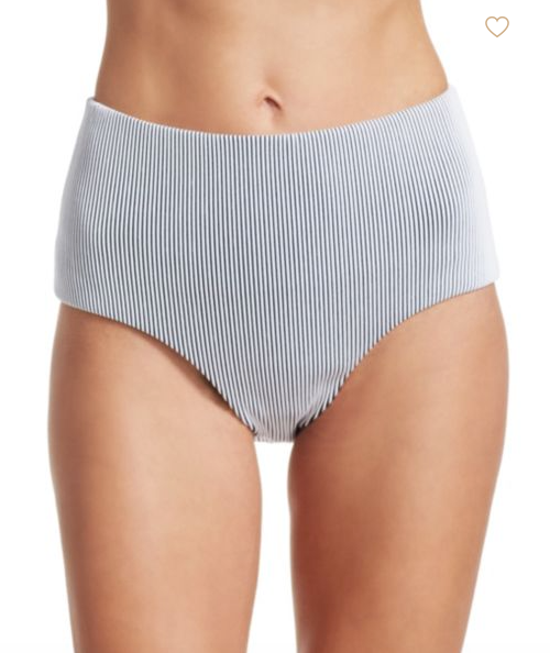 PORTO Bandeau & Brief 2-Piece in Shore Blue/White