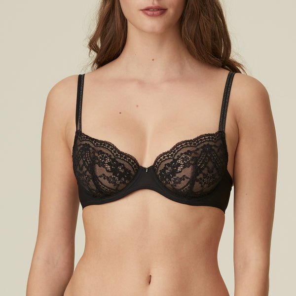 MARGOT Full Cup Underwire Bra in Black