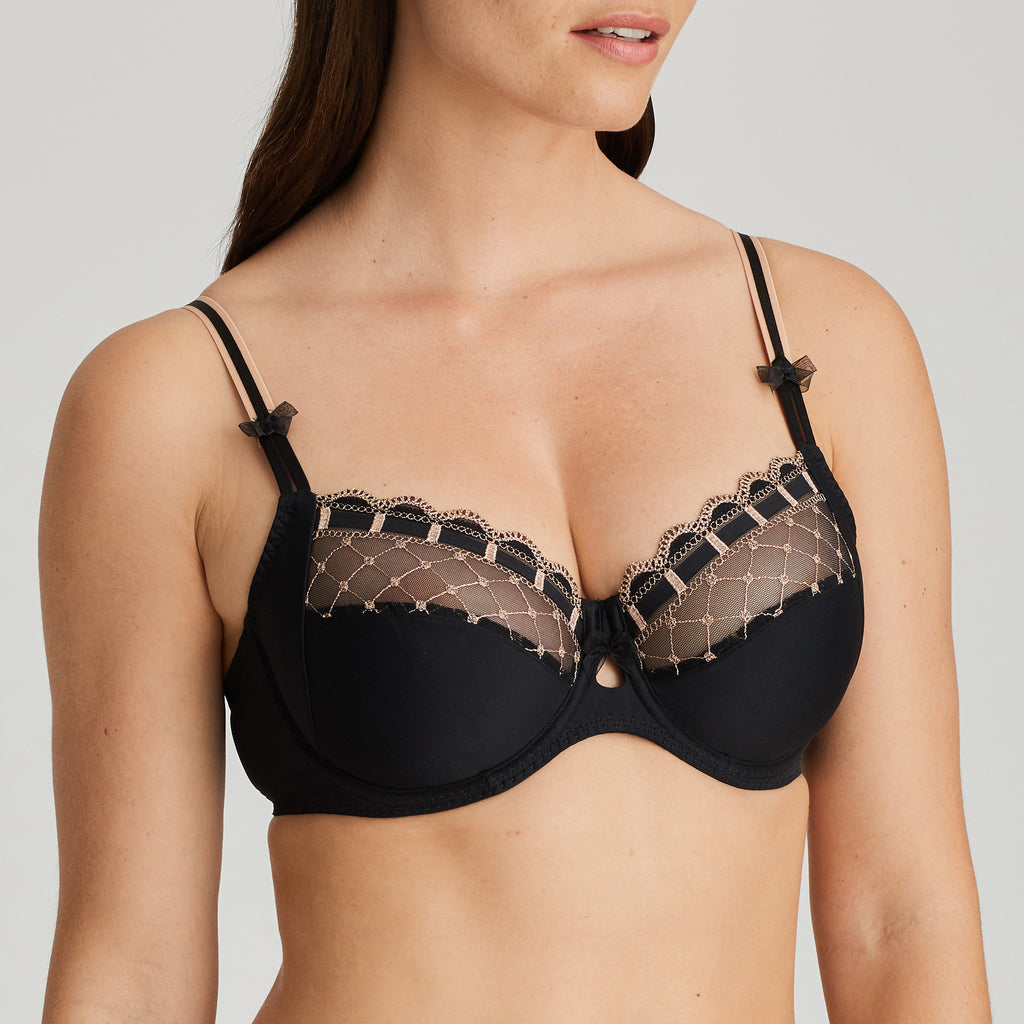 A LA FOLIE Twist Full Cup Bra in Celebration Black