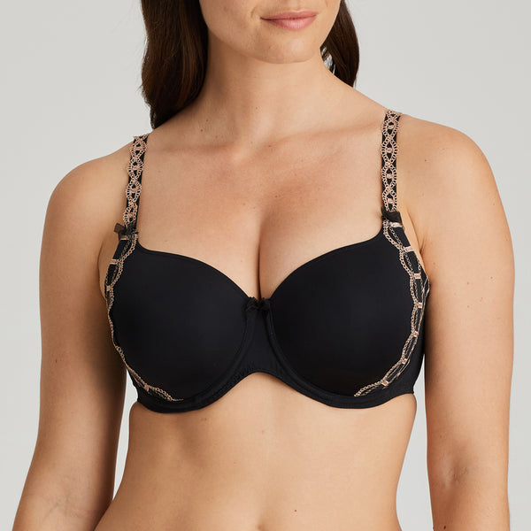 A LA FOLIE Twist Padded Full Cup Bra in Celebration Black
