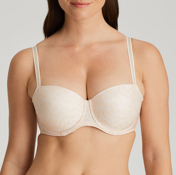 BIJOU Twist Balconette Bra in Pink Blush