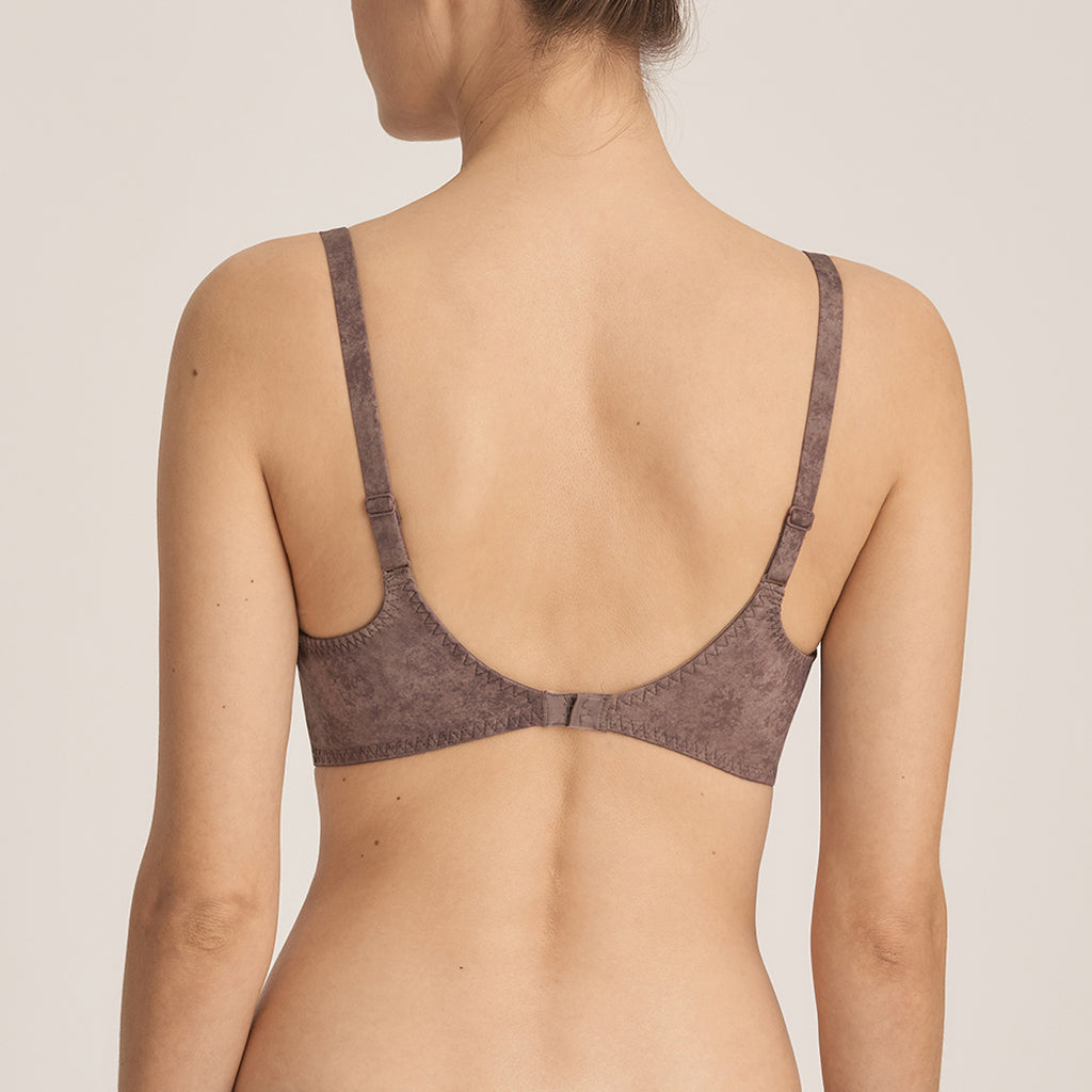 HASHTAG Twist Padded Bra in Agate Grey
