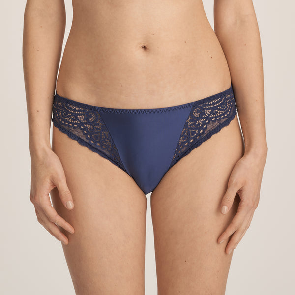 I DO Twist Italian Brief in Sapphire Blue