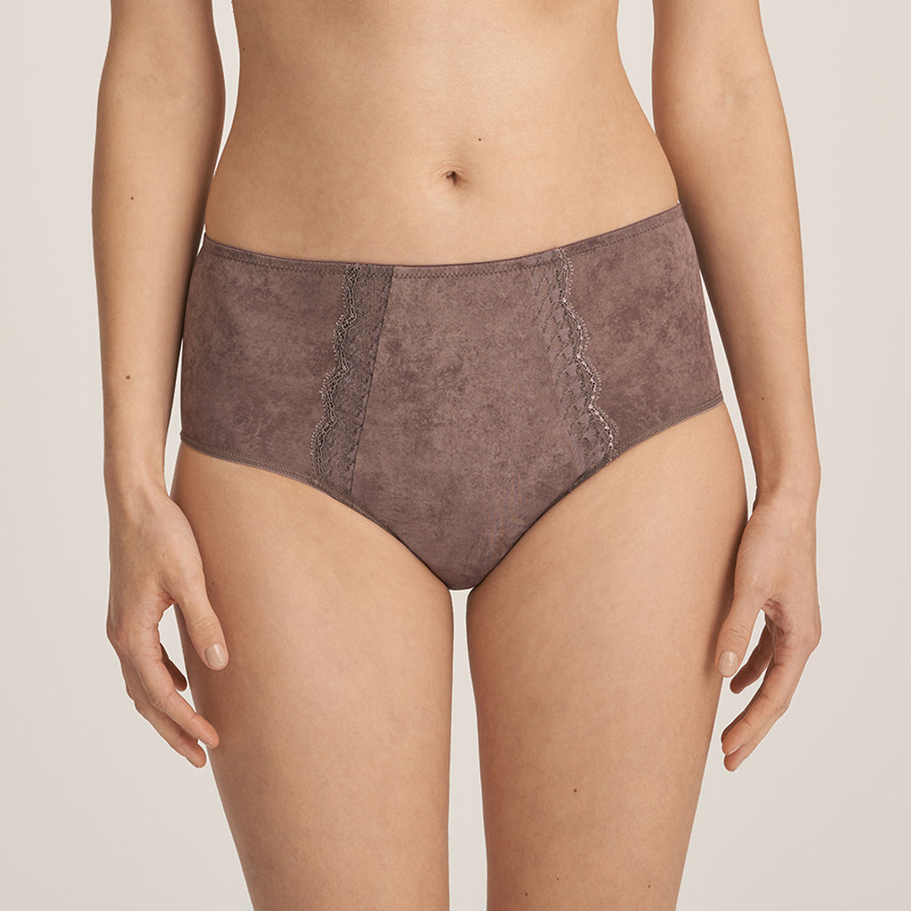 HASHTAG Twist Full Briefs in Agate Grey