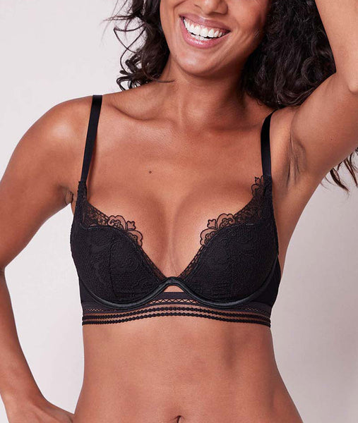 PRODIGIEUSE Triangle Push-Up Bra in Black
