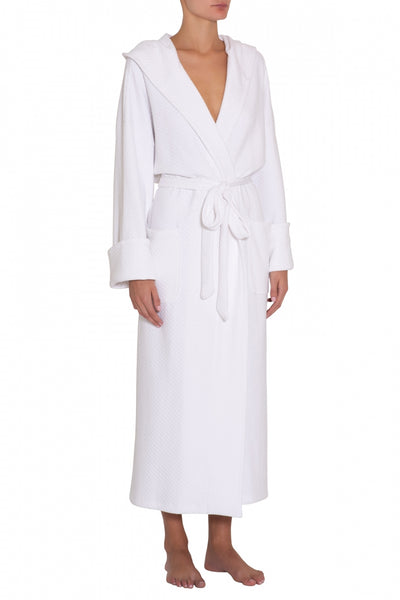 ZEN Long Spa Robe in White