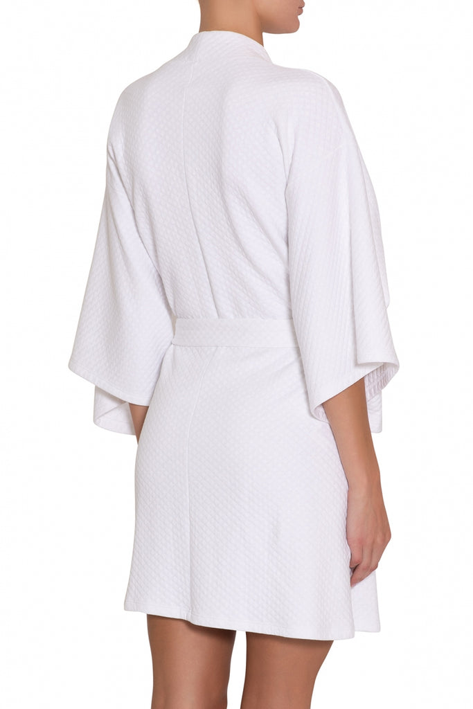 ZEN Short Spa Robe in White
