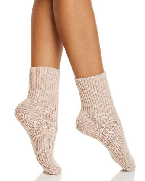 Ribbed Socks in Rose Smoke