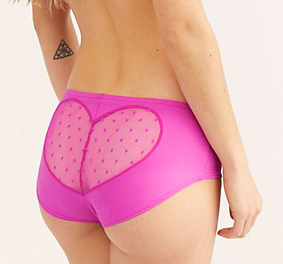 Run, Catch, Kiss Heart Back Hipster in Electric Pink
