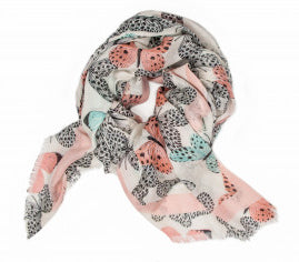 Lightweight Printed Scarf in Butterfly
