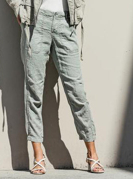 RHEA Linen Pants in Sea Mist