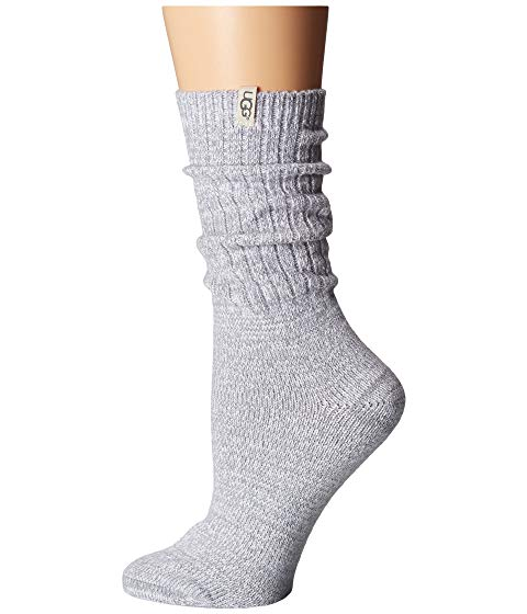 Rib Knit Slouchy Sock in Seal