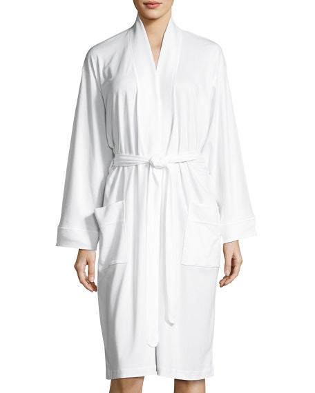 Butterknit Short Robe in White