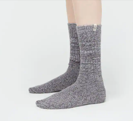 Rib Knit Slouchy Sock in Nightfall