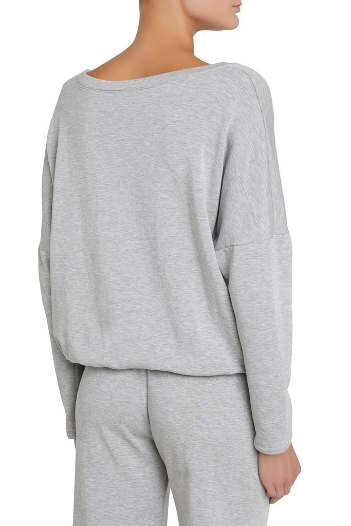 WINTER HEATHER Slouchy PJ Set in Heather Grey