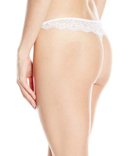ALL LACE Thong in White