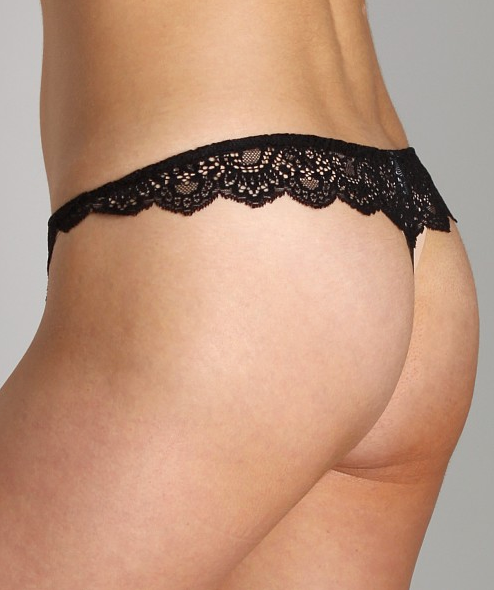 ALL LACE Thong in Black