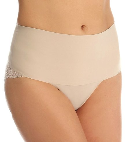 UNDIE-TECTABLE Lace Cheeky Briefs in Soft Nude