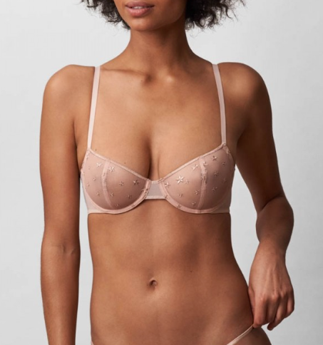 STARGAZER Balconette Bra in Naked/Rose Gold
