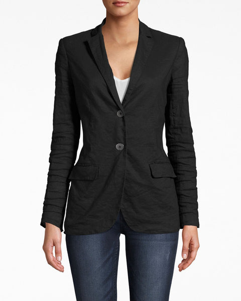 Cotton Metal Blazer in Black