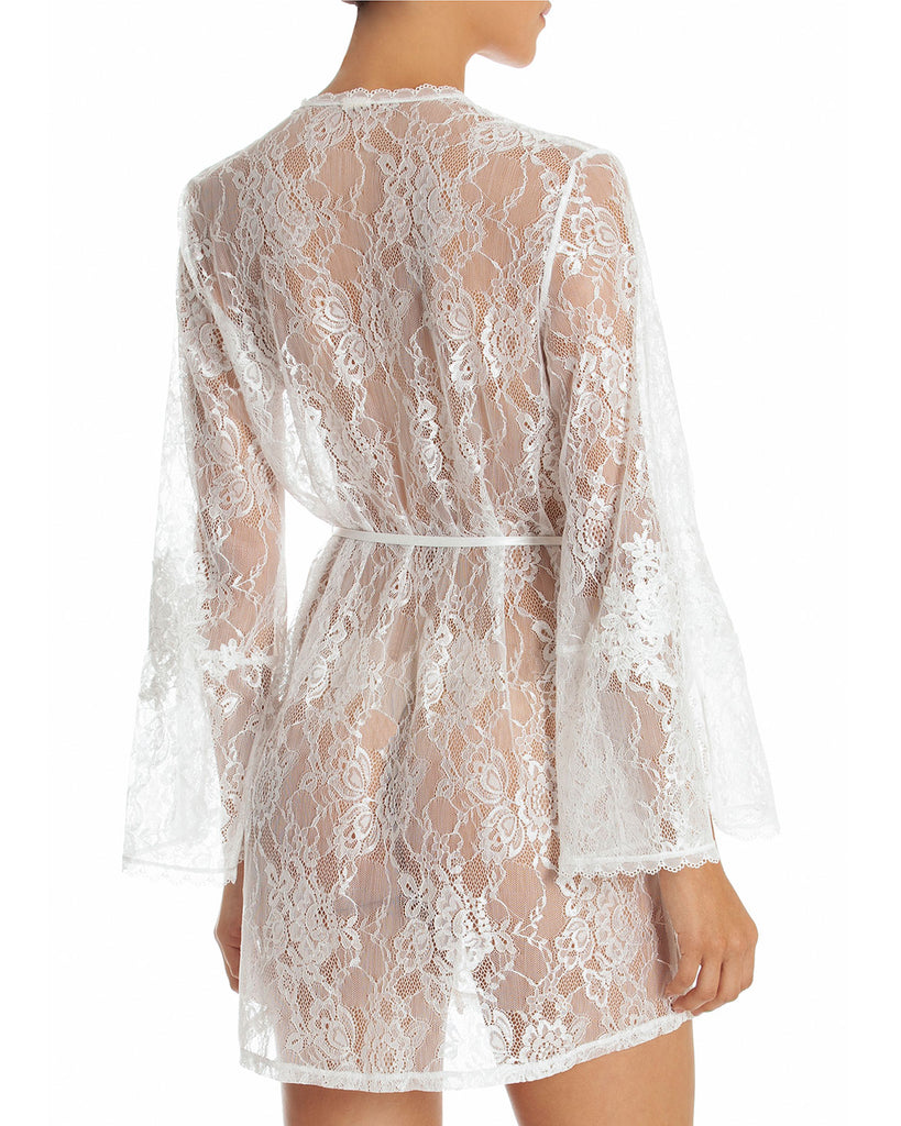 SUTTON Lace Robe in Ivory