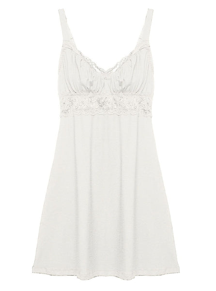 TALCO Curvy Chemise in White