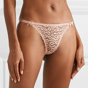 RUBY ROARING Thong in Rose