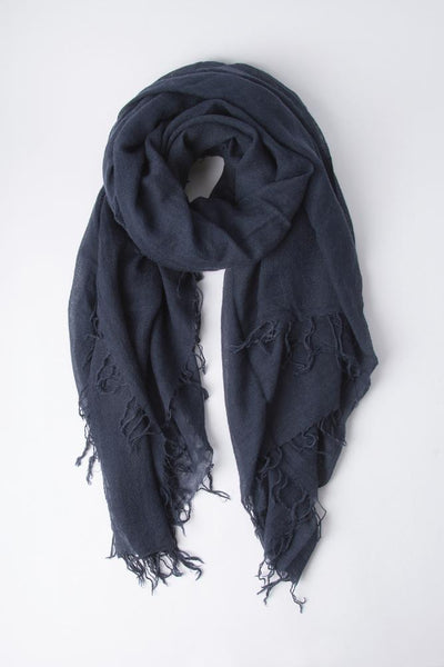 Cashmere & Silk Scarf in Total Eclipse
