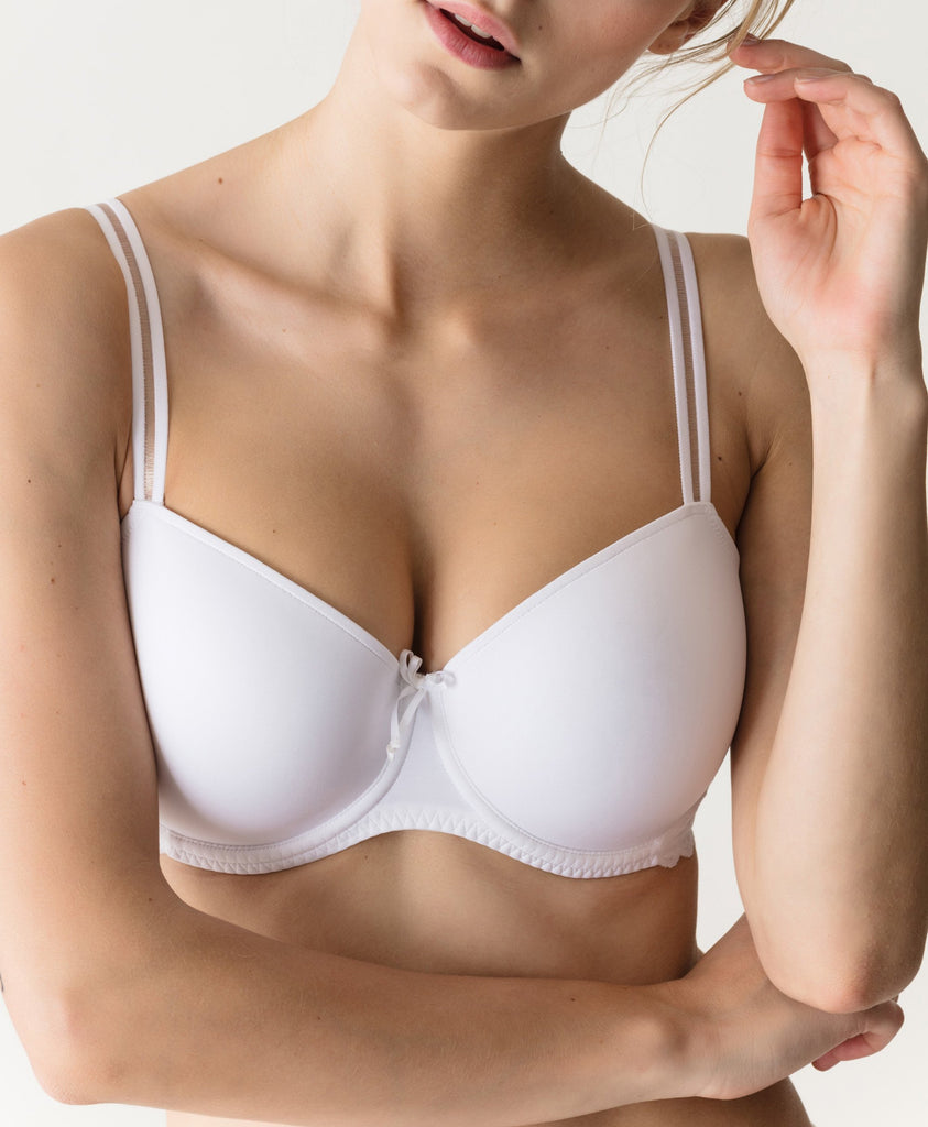 TRESOR Twist Balcony Bra in White