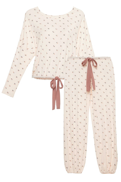 TULIPAN Slouchy Set in Cream Pink