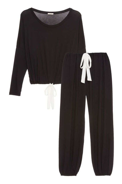 VERA Slouchy Set in Black/Ivory