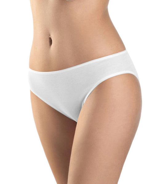 Cotton Seamless Hi-Cut Full Brief in White