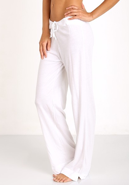 Organic Cotton Pants in White