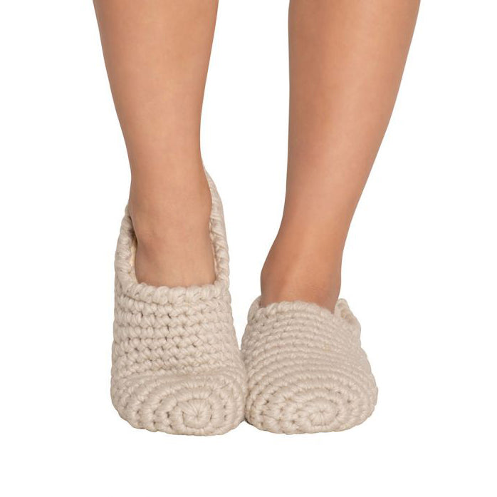 Ankle Slipper Sock in White Sand